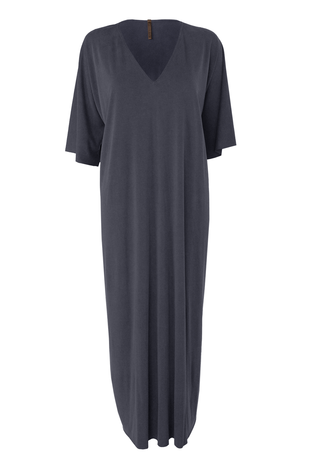 Sueded Jersey Caftan - Smoke