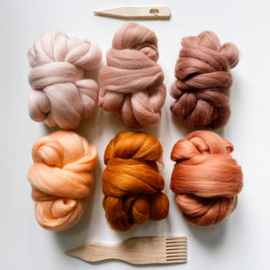 Dusty Rust - Merino Roving Fibre Pack