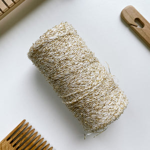 Cotton Boucle with Gold