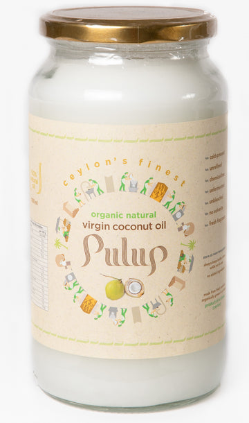 PULUP  Organic Natural Virgin Coconut Oil 1000ml (1 Liter )