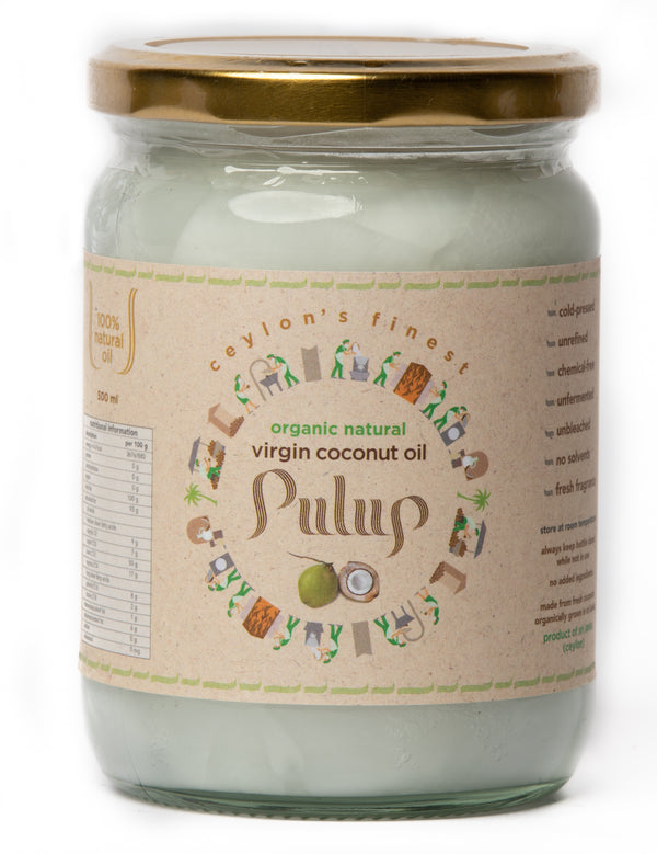 PULUP Organic Natural Virgin Coconut Oil 500ml