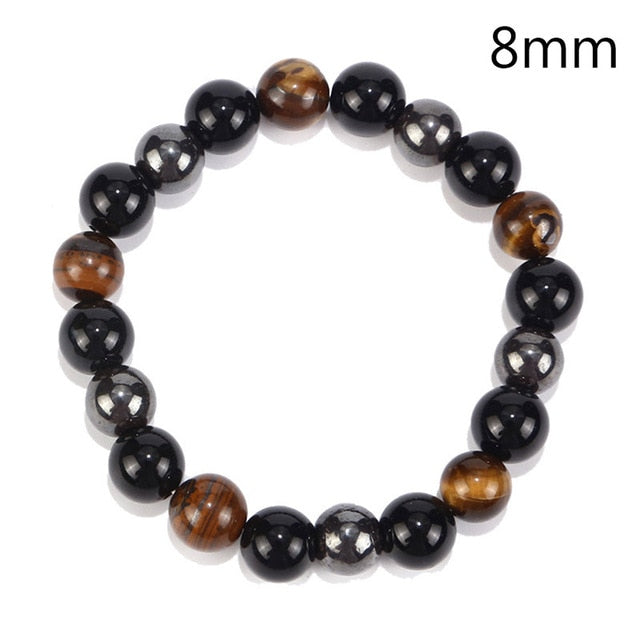 Hot Magnetic Tiger Eye Hematite Stone Bead Bracelet Health Care Magnet Help Weight Loss Jewelry