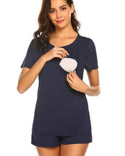 Summer Loose fitting Pajamas Short Sleeves