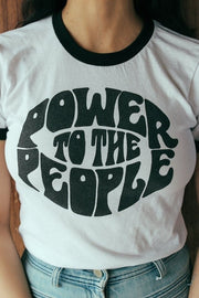 Vintage Style - Power To The People - T-Shirt