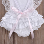 Princess Lace Bodysuit/ Lace Ruffles Sleeves