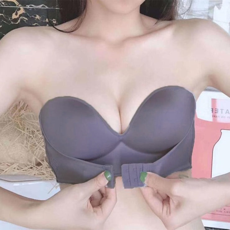 Front Closure Sexy Push Up Bra Strapless Seamless