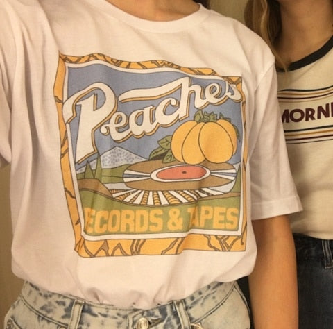 Peaches Records Tapes T-Shirt Hipsters
