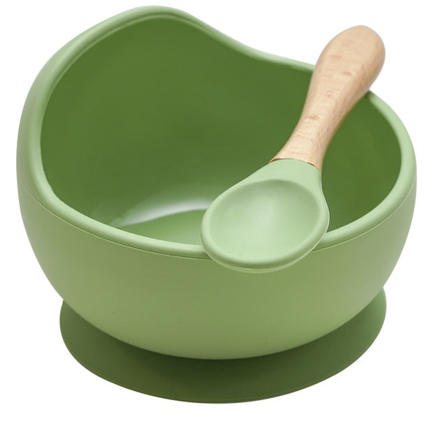 Silicone non-slip suction bowl
