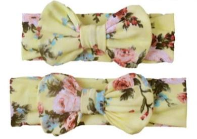 2pc Momzy and baby Matching bow headband