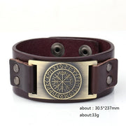 LEATHER VIKING WRIST BAND