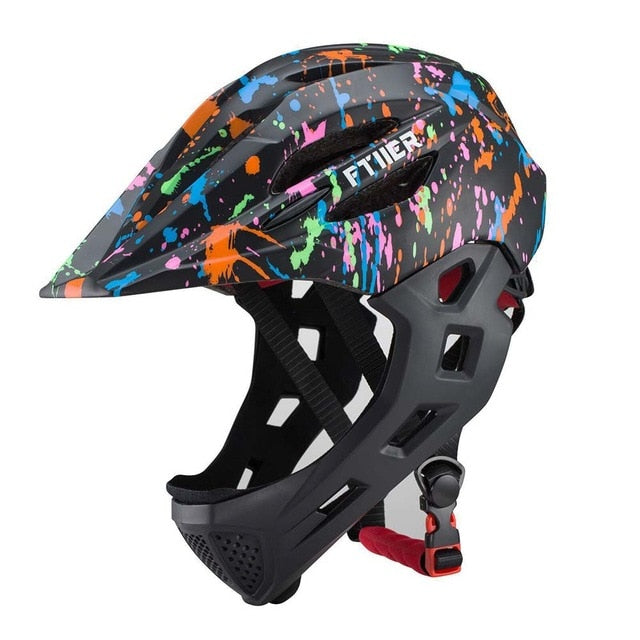 Full Face Mountain Bike Helmet Downhill Cycling Fit for 3-10 Years