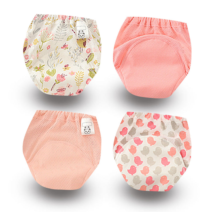 4pc POTTY TRAINING PANTS COTTON REUSABLE WASHABLE