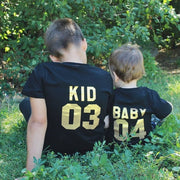 Family Matching T-shirt DADDY MOMMY KID BABY