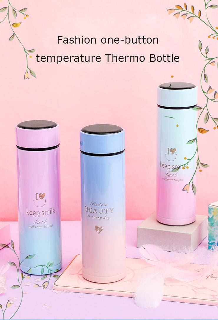 Smart Thermos Water Bottle Digital Temperature Stainless Steel Coffee