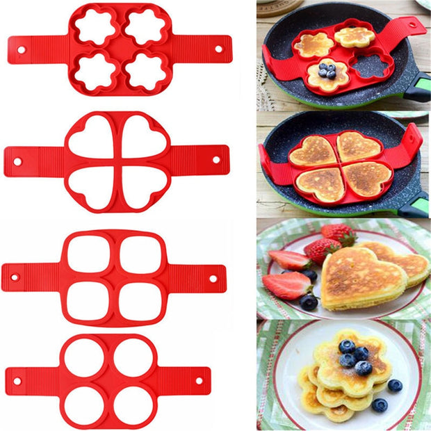 Egg Pancake Ring Nonstick Pancake Maker Mold Silicone