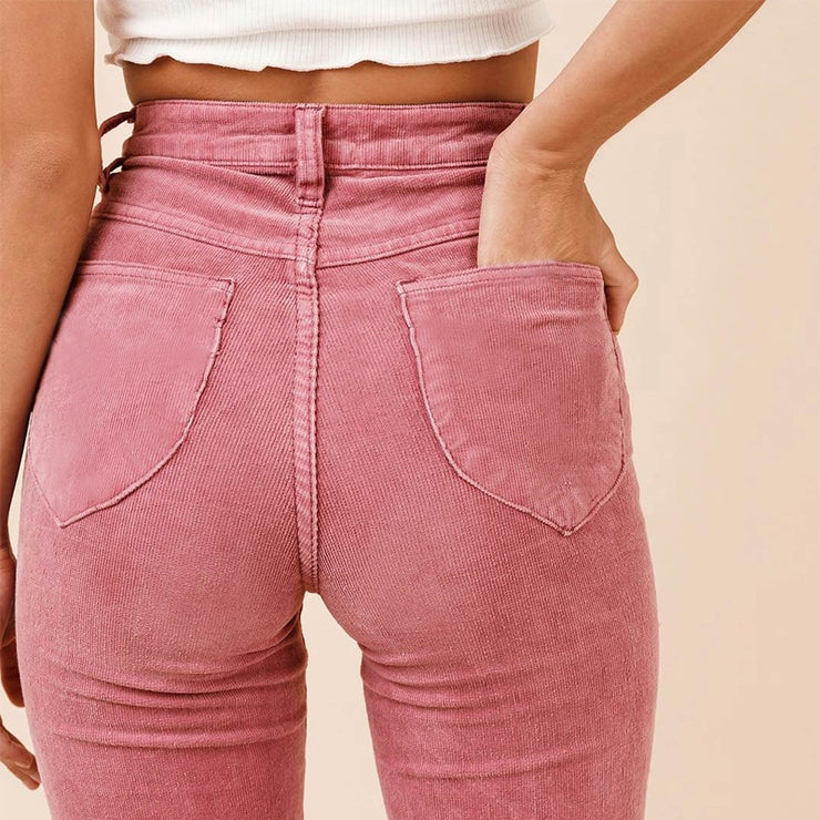 Retro High Waist Flare Pants
