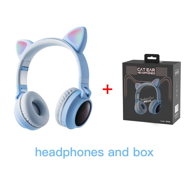 Cat Ears Wireless Bluetooth Headphones Game Headphone Colorful Bluetooth 5.0