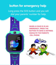 Waterproof 4G Smart Watch for Kids LBS Tracker SOS Call
