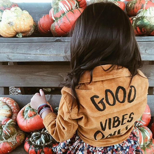 Good Vibes Only Corduroy Jacket