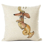 12 zodiac dachshund dog decorative pillows