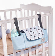 EASY AND ACCESSIBLE MOMMY WATERPROOF ORGANIZER. ATTACHES TO UPRIGHT HANDLE
