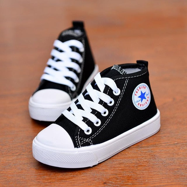 Canvas Shoes Lace Up Sneakers Soft Casual High-top Trainer Shoes