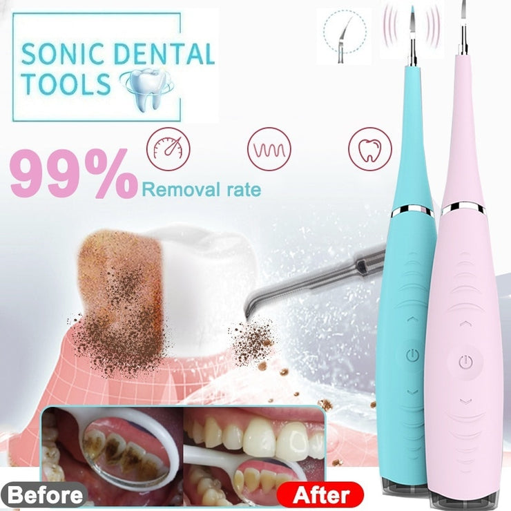 ORAL HYGIENE ELECTIC SONIC DENTAL TARTER REMOVER USB GREAT IF YOU HAVE BRACES