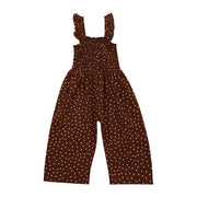 Jumpsuit Sleeveless Polka Dot Ruffles