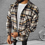 Plaid Flannel Long Sleeve Spring Shirt