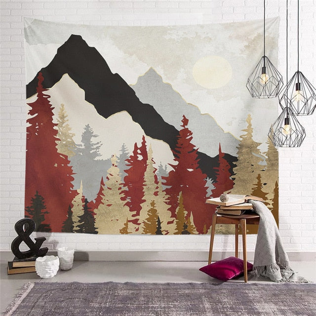 Nature Landscape Tapestry
