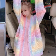 Rainbow Knitted Cardigan