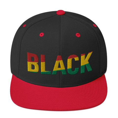 BLACK athleisure snapback hat