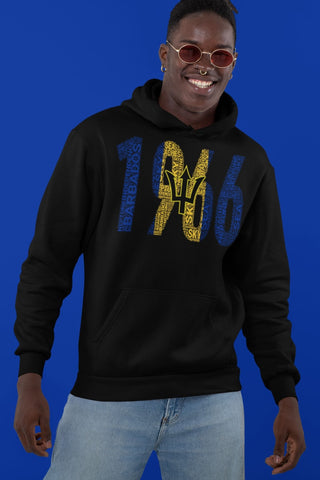 BARBADOS Independence National Flag Word Cluster Inspired Unisex Hoodie