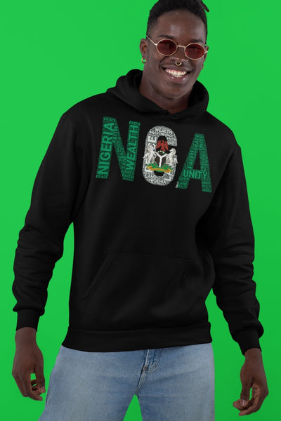 NIGERIA NGA STATE FLAG INSPIRED Word Cluster Unisex Hoodie