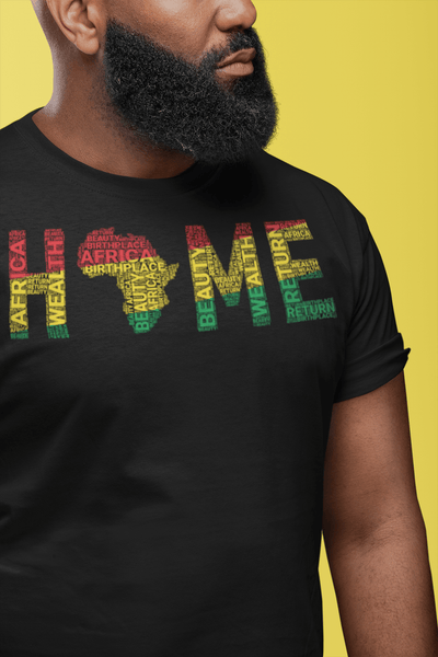 HOME Africa Silhouette Word Cluster Short-Sleeve Unisex T-Shirt