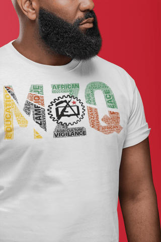 Mozambique 1975 Flag Inspired Word Cluster Unisex T-Shirt (Cogwheel)