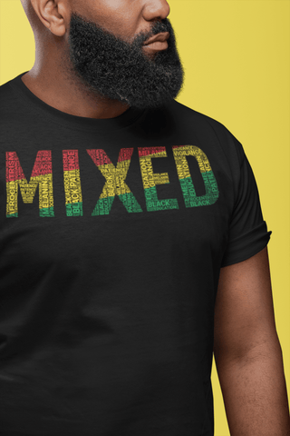 """MIXED"" Word Cluster Short-Sleeve Unisex T-Shirt"