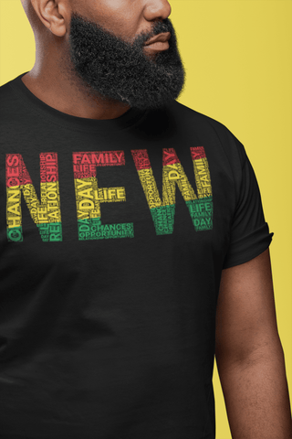 """NEW""  Pan-African Colored Word Cluster Short-Sleeve Unisex T-Shirt"