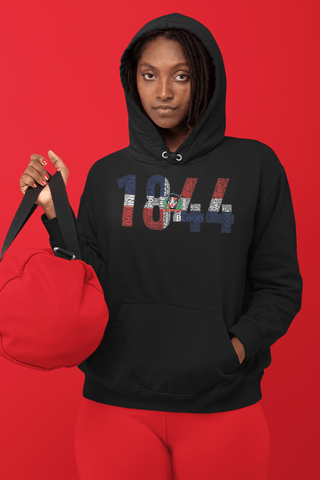DOMINICAN REPUBLIC INDEPENDENCE National Flag Inspired Word Cluster  Unisex Hoodie