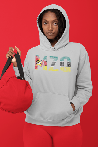 MOZAMBIQUE NATIONAL FLAG INSPIRED WORD CLUSTER Unisex Hoodie