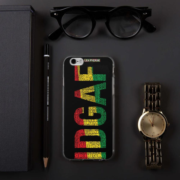 IDGAF Word Cluster iPhone Case