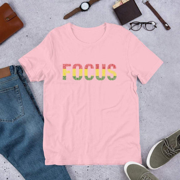 FOCUS Word Cluster Short-Sleeve Unisex T-Shirt - pyerses-bookstore-and-clothing.myshopify.com