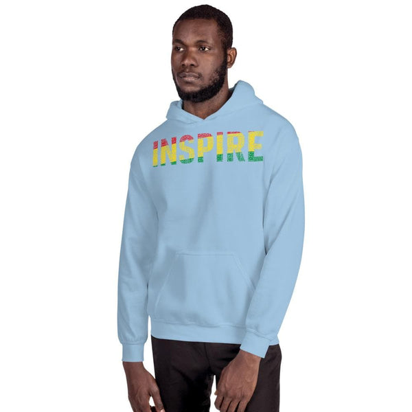 """INSPIRE"" INSTILL, PROVOKE Pan-African Colored Word Cluster Unisex Hoodie - pyerses-bookstore-and-clothing.myshopify.com"