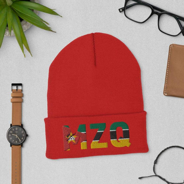 MOZAMBIQUE MODERN FLAG INSPIRED Cuffed Beanie - pyerses-bookstore-and-clothing.myshopify.com