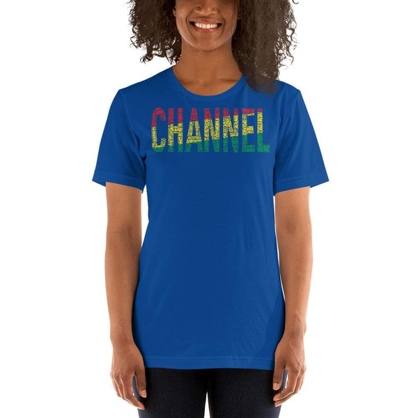 """CHANNEL"" Pan-African Colored Short-Sleeve Unisex T-Shirt"