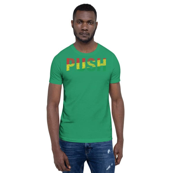 PUSH Pan-African Colored Short-Sleeve Unisex T-Shirt - pyerses-bookstore-and-clothing.myshopify.com