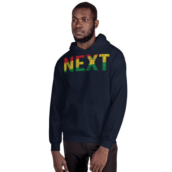 """NEXT"" Pan-African Colored Word Cluster Unisex Hoodie"