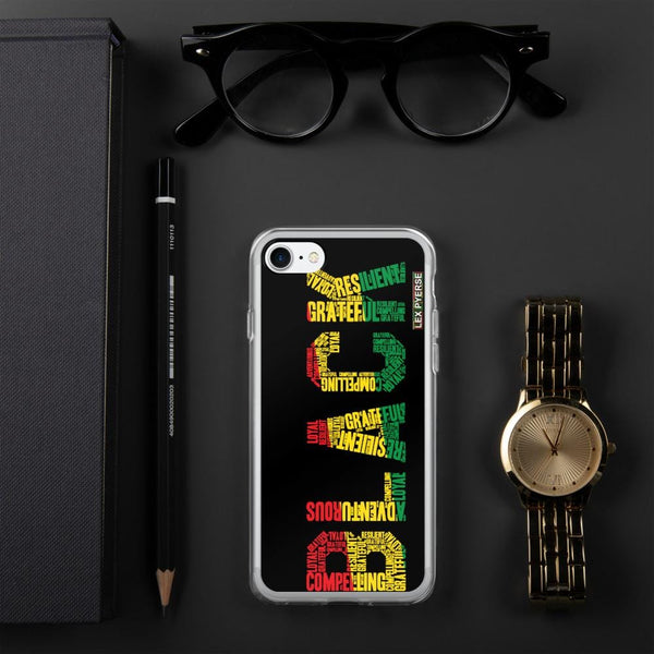BLACK Word Cluster iPhone Case