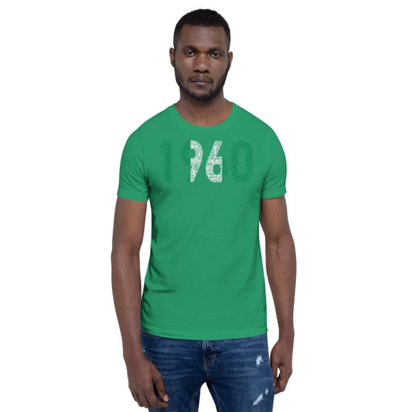 1960 Nigeria Independence Year Word Cluster Tee Short-Sleeve Unisex T-Shirt - pyerses-bookstore-and-clothing.myshopify.com