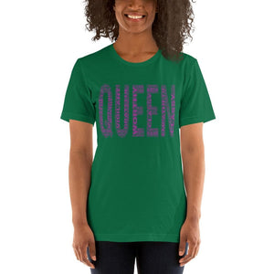 QUEEN (Purple) Short-Sleeve Unisex T-Shirt | Worthy, Grateful, Classy, Nurturing, Vigilant, Empathetic
